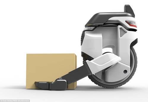 Transwheel的机器手臂可以装卸包裹。在构想设计中,它还拥有面部识别功能,在交货时确认收货者的身份。(图片:《每日邮报》)