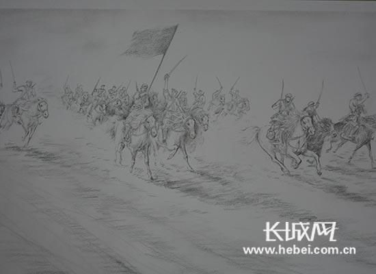 新闻  戒毒学员创作素描画献礼抗战胜利70周年.图片