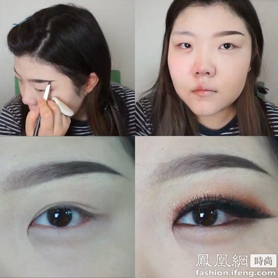 接下来就从底妆开始,化妆步骤十分完整,妆前打底再到上粉底,一步不落.