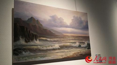 图为俄罗斯画家作品《风景》。杨文娟摄