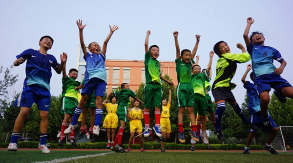翻越五座大山,提振校园小学|足球|足球夏圣足协图片