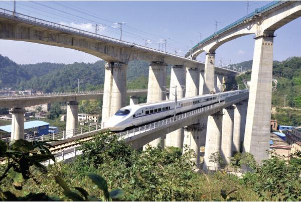 高铁桥梁结构示意图