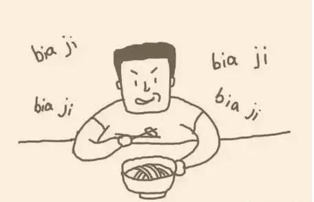 拿着筷子的手手绘