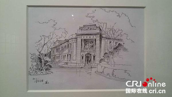 中国建筑物 素描-高冀生钢笔建筑速写画展在国家博物馆展出