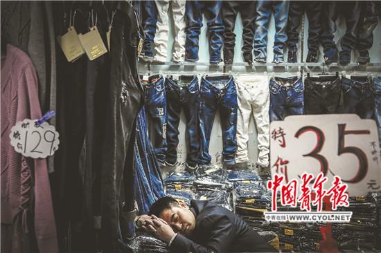 北京一家服裝批發市場