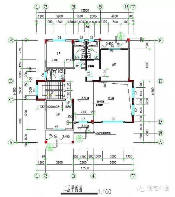 农村盖房设计大全 独栋8套 联排2栋 含平面图