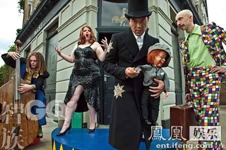[明星爆料]廖凡登某杂志开年刊封面 街头演绎戏剧之风