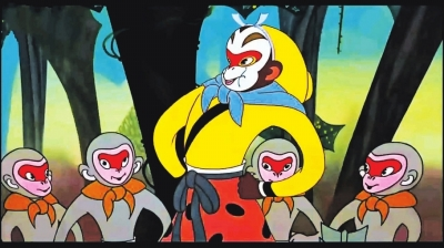 经典美术片《大闹天宫》中的美猴王造型图片