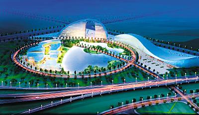 国际港务区规划展览馆建设剪影