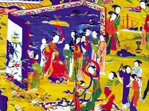 古代元宵歌舞。图片来源:羊城晚报