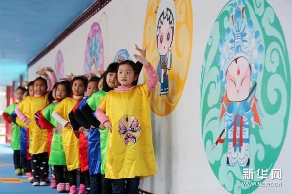 安徽:幼儿园里学京剧|幼儿园|脸谱