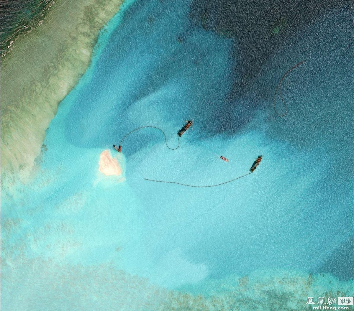成为整个南沙第二大岛礁,面积仅次于填海后的美济礁.