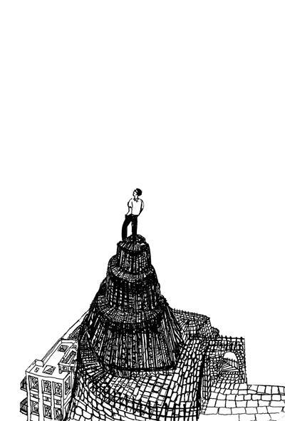 封面图片源自帕慕克手绘图(局部)