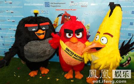 潘基文学 愤怒的小鸟 卖萌 任命 胖红 为大使
