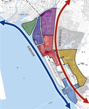 """大空港""""两带六区""""区域功能结构图"""