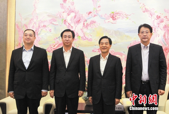 夏海钧与招商局集团董事长李建红、总经理李晓鹏合影-多家龙头金融