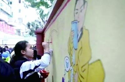 湖里举办墙绘活动传承家风家训