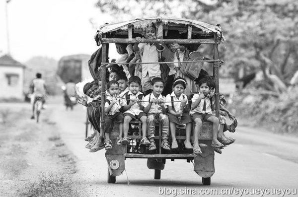 世界偏远地区孩子上学走过的路 - 田园 - 田园的博客