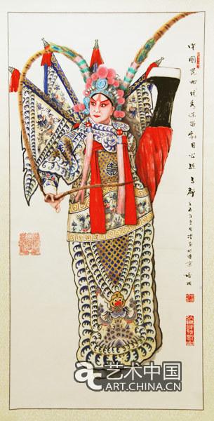 京剧人物工笔线描