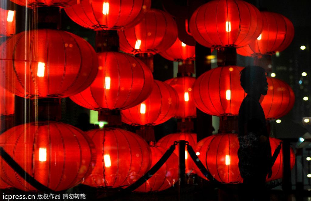 马来西亚中秋节习俗:提灯笼游行图片