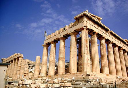 承载古老的文明,爱琴海的波涛已写在大理石的纹路里。