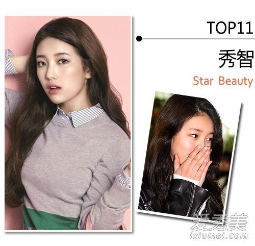 """""""全球百大美女""""14名韩国女星素颜皮肤差"""