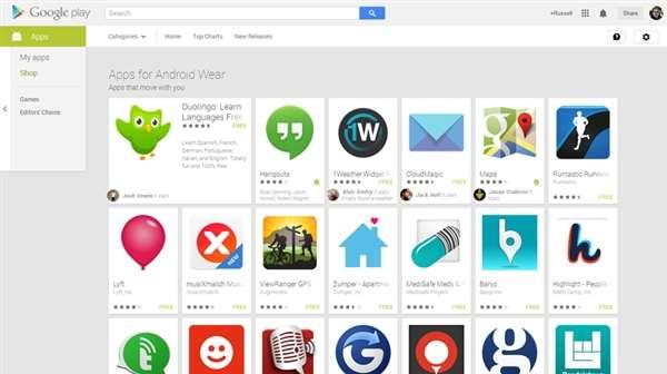 Android Wear应用数量已超谷歌眼镜
