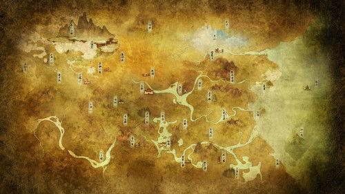《轩辕剑》曝网游版世界地图