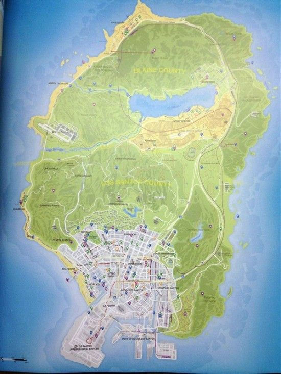 《gta5》官方地图曝光 地图之大为系列之最图片
