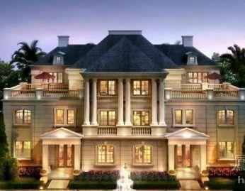 总建筑面积近28万平方米,采用经典法式建筑风格,由双拼别墅和高层豪宅