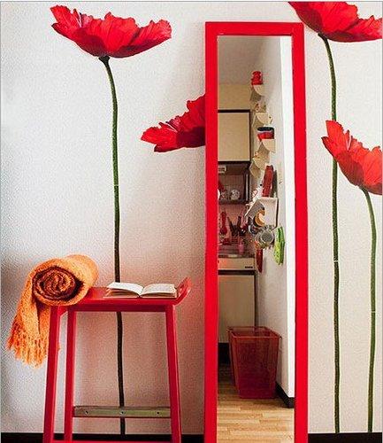 中式入户玄关效果图:大红色体现不一样的艳丽精彩,而简洁明了的玄高清图片
