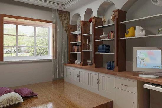 [欧式装修]欧式开放式风格书房装修设计