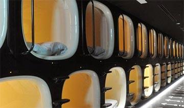 日本成田机场现胶囊旅馆 方便乘客长时间候机