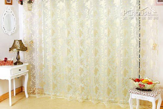 欧式成品金色剪花窗帘窗纱明细