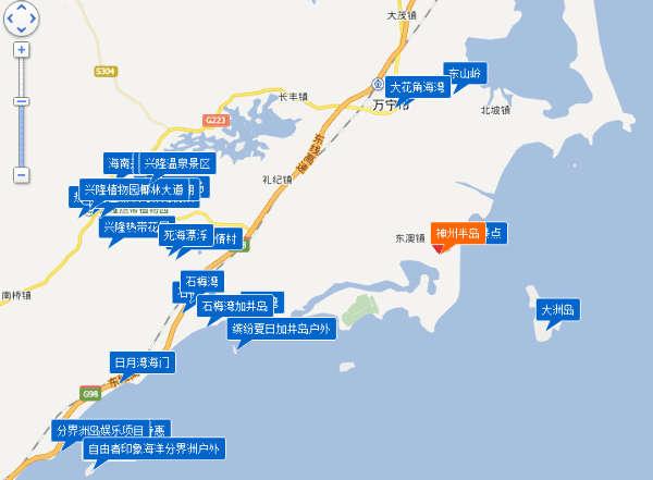 神州半岛位于海南省万宁市东澳镇的东南面