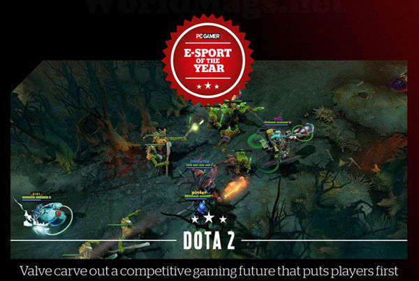 DOTA2获得PC Gamer年度电竞游戏称号