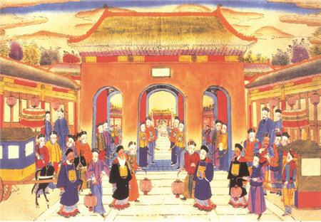 清朝官员(资料图)