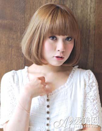 齐刘海适合做头减龄更大全图片瘦脸发图片女孩脸型造型图片