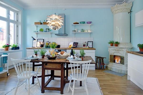 给你灵感的生动亮丽北欧小公寓