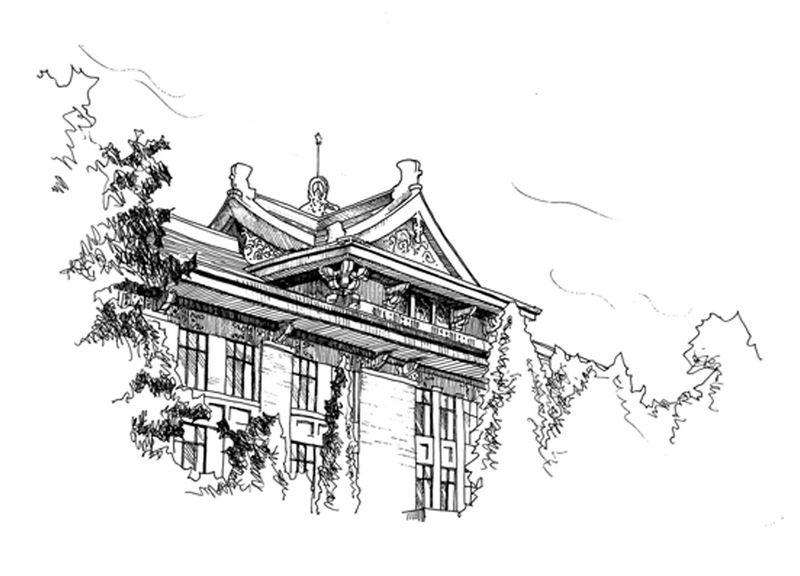 台湾大学校门矢量图