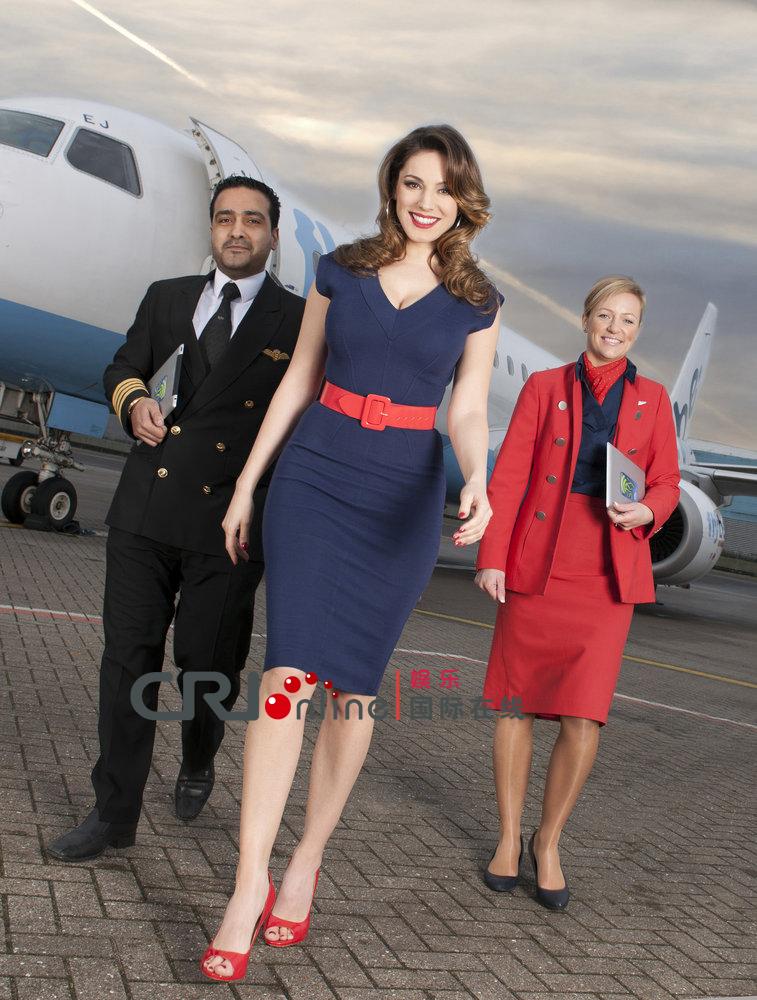 布鲁克/凯莉·布鲁克变身优雅空姐 撅臀为航空公司宣传新服务