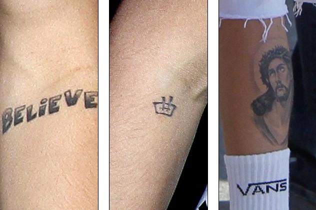 贾斯汀·比伯纹母亲生日表达孝义 盘点身上所有纹身