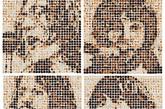 披头士乐队成员的肖像。