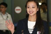 韩国艺体萝莉孙妍在回国