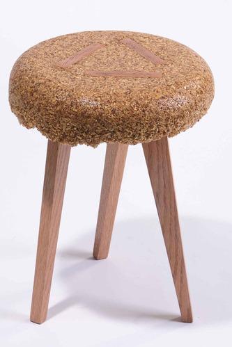 木头锯屑成材料 刨花囧凳好创意