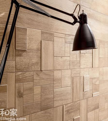 搞点新意思:披瓷砖外衣的木地板尽显层次感