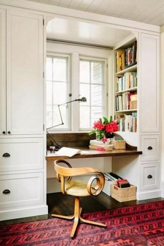 28款嵌入式欧式书柜设计 让书柜变成有文化的背景墙