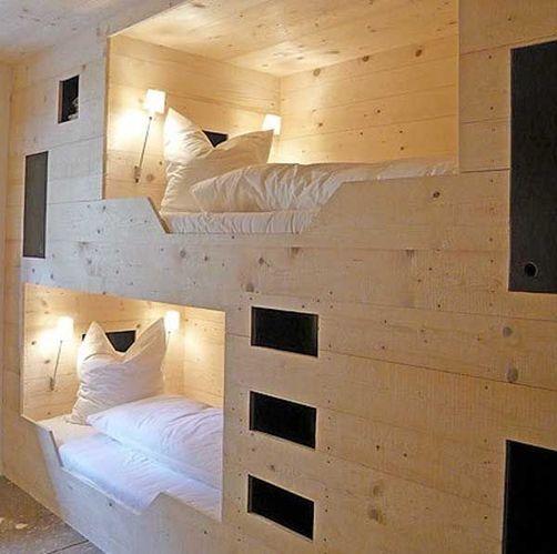创意双层架子床设计 如果宿舍也有这样的上下铺就好了图片