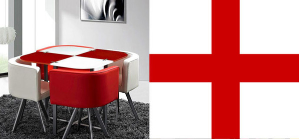 英格兰红白搭配显魅力 时尚大气品位首选