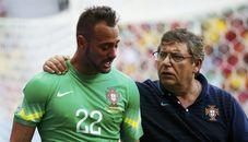葡萄牙门将受伤被换下 坐替补席痛哭
